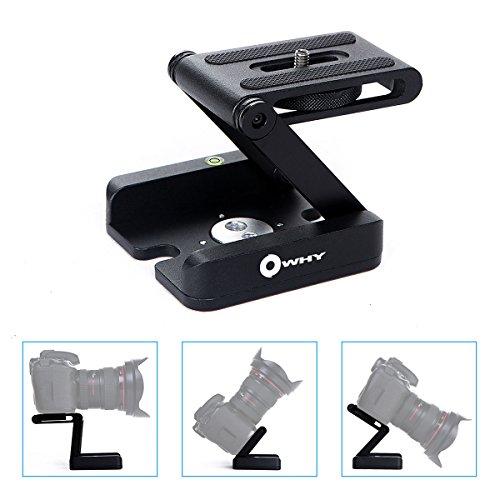 Z-förmige Aluminiumlegierung Faltbare Kamera Camcorder Halter Schnellwechselplatte Owhy Marke für DSLR Videokamera (schwarz)
