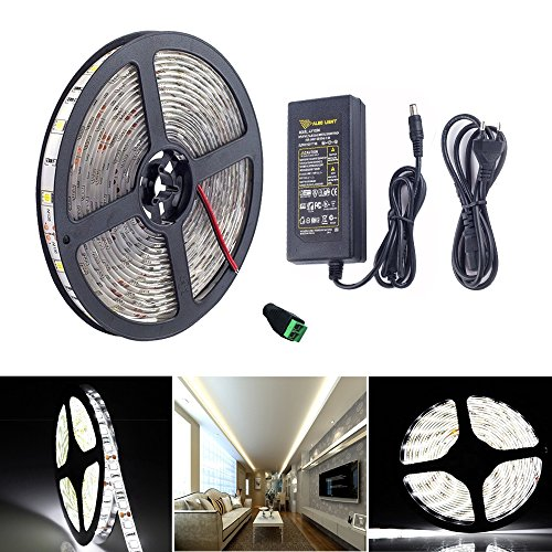 Topled Light®Kit striscia luminosa a LED,5M/16.4ft SMD5050 300leds bianco freddo Luce di striscia a LED (Rope 1 Luce)