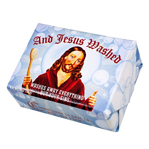 and Jesus Washed Soap - 1 Mini Bar of Soap - Made in The USA (Seife Mini-bar)