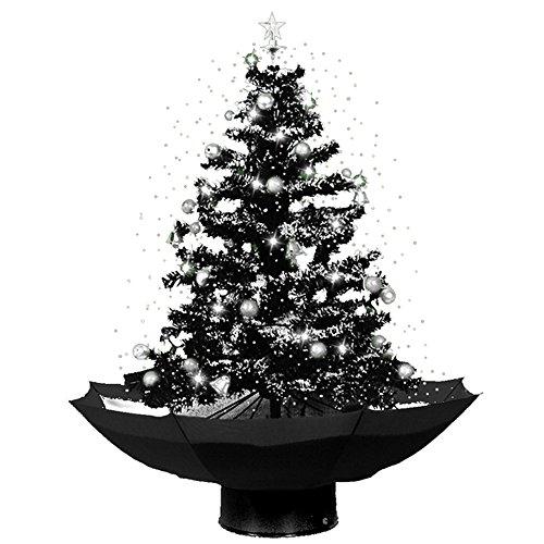 JEMIDI Weihnachtsbaum mit Schneefall - 75cm Schneiender Tannenbaum Christbaum Schnee Selbstschneiend (Schwarz)