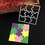 Qiman Puzzle DIY Metall Stanzformen Schablone Template Scrapbook Album Papier Karte Handwerk