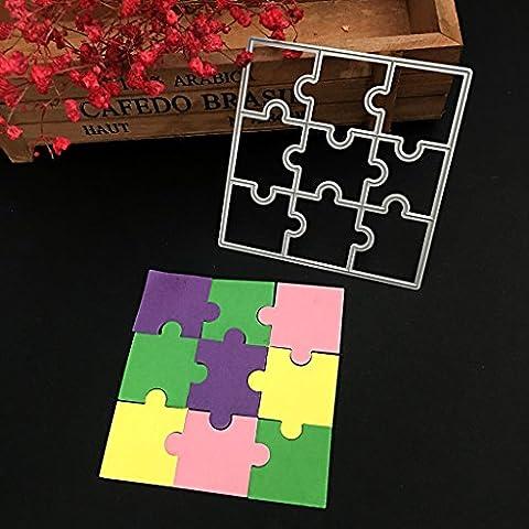 Dairyshop puzzle DIY Coupe Métal Dies Pochoir Album de scrapbooking carte de papier craft