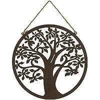 Mural Árbol de la Vida de metal marrón oriental para decoración de exterior Garden - LOLAhome