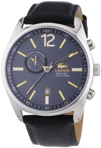 Lacoste Herren-Armbanduhr XL Austin Analog Quarz Leder 2010728