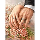 DIY 5D Diamond Painting Kit Completo Trapano, Saihui Strass Ricamo a Punto Croce con Immagini Arts Craft for Home Room Decorazione, Hold Your Hand And Grow Old with You, 30x40cm/ 11.8x15.7