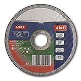 SECOTEC® 4 in 1 Trennscheibe Flex-Scheibe Winkelschleifer-Scheibe 4 in 1 für Beton, PVC u. Stahl | 125 x 1,6 mm | 5 Stück