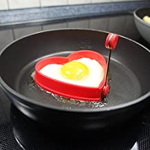 HENGSONG Silikon Spiegeleierform Frühstück Spiegelei Schimmel Schimmelpilze Eierform (Herz)