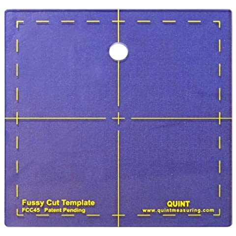 Quint Measuring Systems 4.5 x 4.5-Inch Fussy Cut Series Cutting Squares