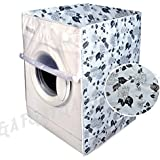 F&A Washing Machine Cover Front Load 6 KG to 7.5 KG Water Proof Dust Proof Large Flowers