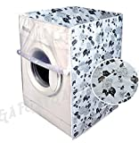 #8: F&A Washing Machine Cover Front Load 6 KG to 7.5 KG With High Quality Zip Large Floral Printed Durable, Water Proof, Dust proof With Designated Openings For Inlet And Outlet Pipes And Power Cords.