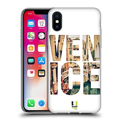 Head Case Designs Big Ben Y La Ciudad De Autobús Londres Instantanés De La Ville Étui Coque en Gel molle pour Apple iPhone 4 / 4S Canal Scénique Avec Gondole Venise Italie