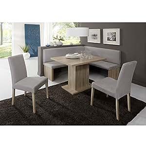 Eckbank Eckbankgruppe Essgruppe Charlson Essecke Bank Tisch 2 Stühle