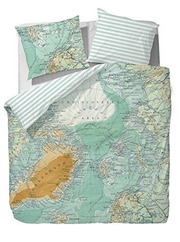 Covers Bettwäsche North Pole multi Baumwolle Weltkarte Atlas Landkarte 135x200 cm 80x80 cm