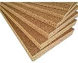 FUTURAZeta - Sughero Biondo, Qualità Superiore, spessore 2 cm. densità maggiorata 175/180 Kg/mc, isolamento termico e acustico. (5 Pannelli)
