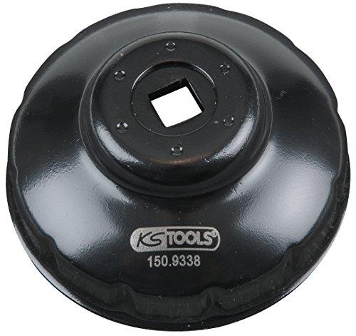 KS Tools 150.9338 - Chiave per filtro olio, 3/8' (76 mm), 76-12