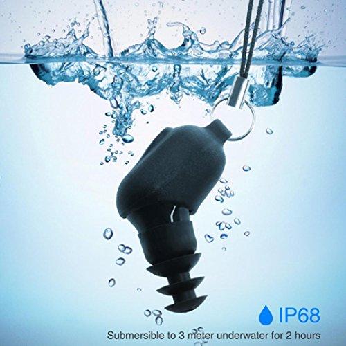 Xshuai Lange Distanz Wasserdichte Bluetooth Universal Kopfhörer IP67 Wasserdichte Bewertung Für Ios Android Psp / iPod / MP3-Player (20 * 15 * 12mm Schwarz) (Schwarz)