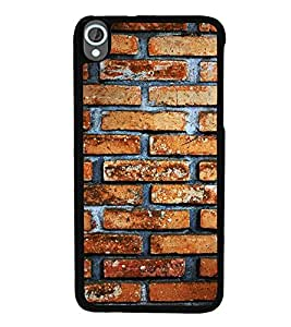 ifasho Designer Back Case Cover for HTC Desire 820 :: HTC Desire 820 Dual Sim :: HTC Desire 820S Dual Sim :: HTC Desire 820Q Dual Sim :: HTC Desire 820G+ Dual Sim (Old Age Classic Style Bricks Pattern Stone)