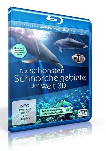 Die schönsten Schnorchelgebiete der Welt (Real 3D + 3D anaglyph inkl. 2 Brillen + 2D-Version) [SBS-3D Blu-ray]