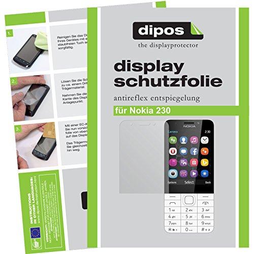 dipos I 2X Schutzfolie matt passend für Nokia 230 Folie Bildschirmschutzfolie