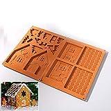 Queta Schokoladenhaus Schokoladenform DIY Handgemachte Schokolade Weihnachten Lebkuchenhaus Form