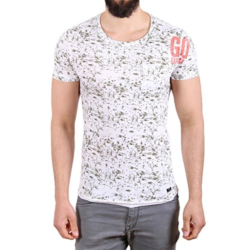 Blend Go Explore Pocket Splatter T-Shirt Weiß Weiß