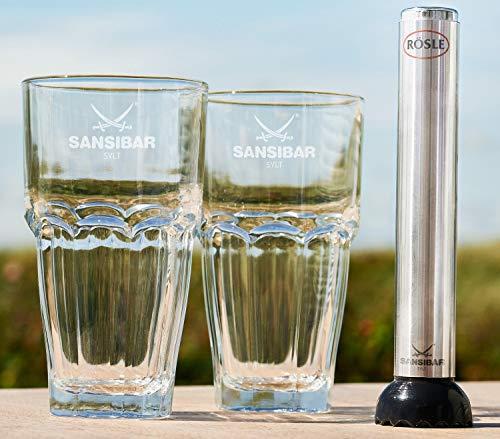 Rösle Caipirinha Set mit Stößel Sansibar 3-TLG, Glas, transparent, 17 x 4 x 4 cm, 3-Einheiten