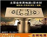 HGTYU-El cobre y fugas de wc lavadora y deodorización insecto profunda el cobre el acero inoxidable filtro hacia la 4-pulgada 5