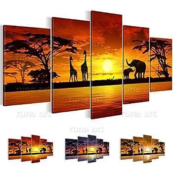 Bilder Afrika Sonnenuntergang Wandbild 100 x 40 cm Vlies