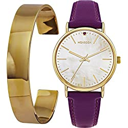 Monsoon Ladies' Cuff Watch and Bangle Set Analogue Display