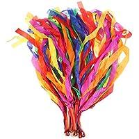 Toyvian 12 Piezas Cintas de Baile Arco Iris Gimnasia Cinta Arco Iris Cinta de Baile Cinta de Color (Multicolor)
