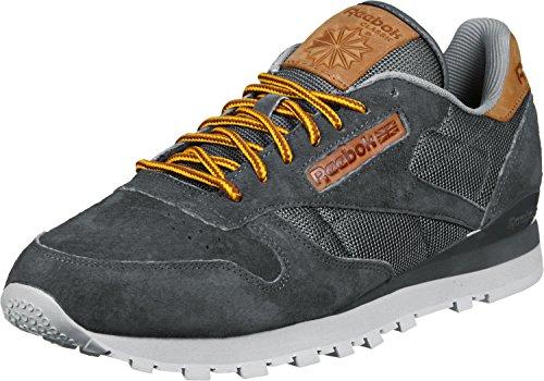 Reebok CL Leather OL Schuhe 6,5 ash grey/blue (Turnschuhe Schnürschuhe Reebok)