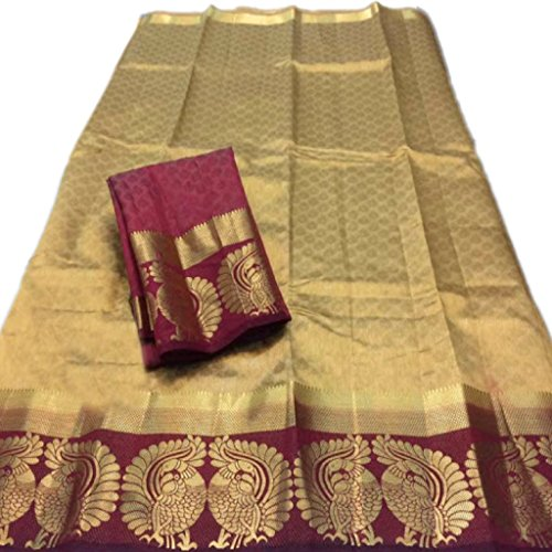 C J Enterprise Women's Cotton Silk sarees With Blouse Piece.(Banarasi Silk Sarees)...