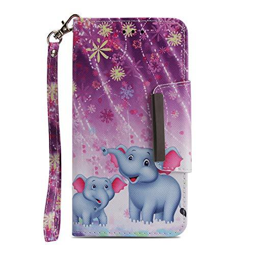 Funda Xiaomi Redmi Note 5A / 5A Prime Elefantes, Carcasa Libro de...
