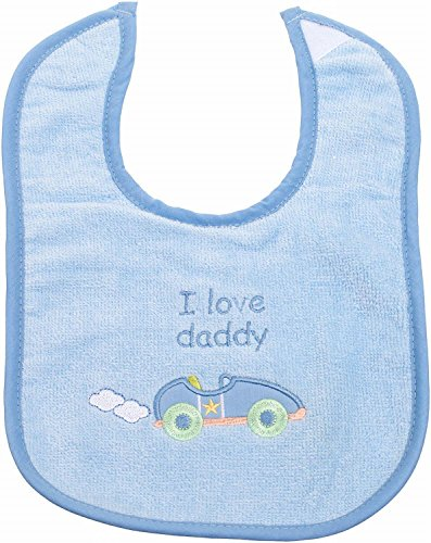 Bieco 38000176 – Lätzchen Boys, Love Daddy, ca. 31 x 21,5 cm