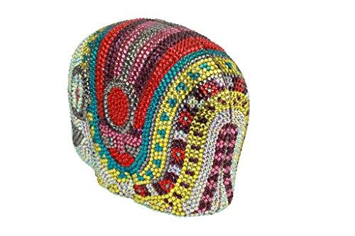 Yilongsheng femmes Embrayage Sacs avec de couleur vive diamants AB colore+multicolore