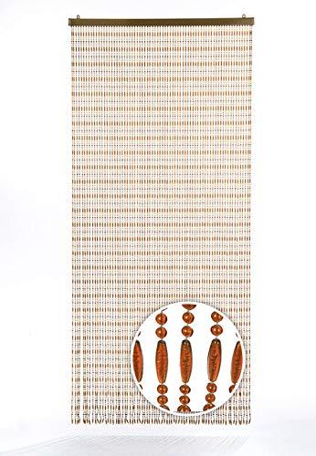 Kobolo Türvorhang Amber Perlenvorhang 90x200 cm (Für Perlen Tür Die)