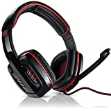 CSL - 7.1 USB Gaming Headset inkl. externer Soundkarte | Virtual 7.1 Surround Sound | PC Komfort...