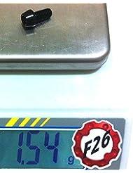 F26 Aluminium M6 Schraube 7075 DIN 912 bolt (schwarz, 12 Millimeter)
