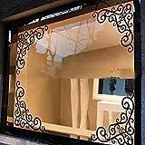 4pcs/hoja elegante extraíble esquina onlay aplique marco muebles espejo pared ventana pegatinas para el hogar armario puerta decoración manualidades espejo vinilo pared arte adhesivo esquina