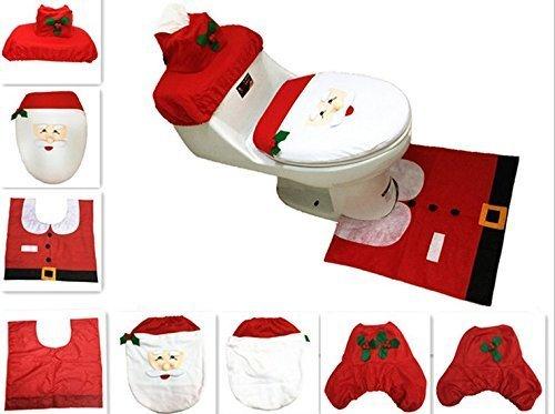 Set Bagno Babbo Natale.Uchic 3pcs Set Creativo Babbo Natale Copriwater Co Il Miglior Prezzo