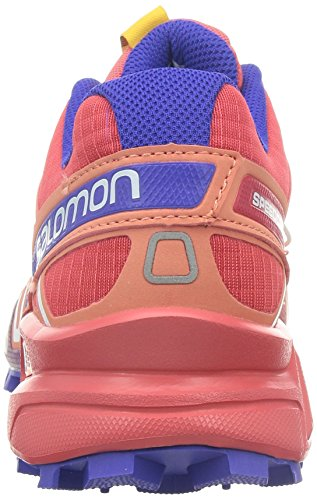 SalomonSpeedcross 3 - Scarpe Running donna Rosso (Rot (Papaya-B/Melon Bloom/Spectrum Blue))