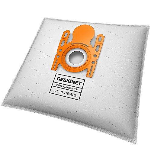 Lot de 10 sacs d'aspirateur - Pour Kärcher VC 6 Premium, VC 6100, VC 6.150, VC 6200, VC 6300, etc