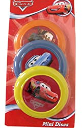 3 Pack Disney Cars Mini Flying Discs - Disney Cars Frisbees