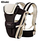 ELENKER™ Adjustable 4 Positions Carrier 3D Backpack Pouch Bag Wrap Soft Structured Ergonomic Sling Front Back Newborn Baby Infant Khaki