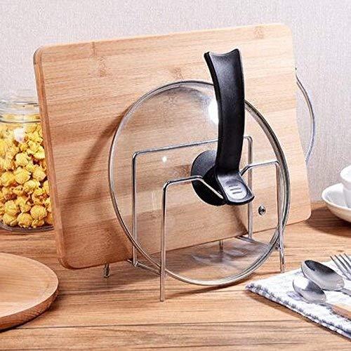 Miniinthebox–Tapa de acero inoxidable de suministros de cocina cuchillo tabla de cortar palillos soporte estante de la cocina