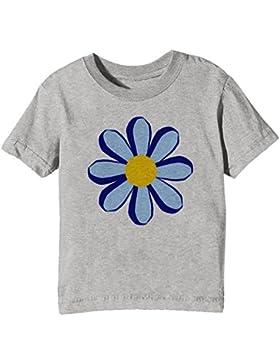 Flor Niños Unisexo Niño Niña Camiseta Cuello Redondo Gris Manga Corta Todos Los Tamaños Kids Unisex Boys Girls...