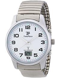 Time Piece Herren-Armbanduhr Funk Zugband Analog Quarz TPGA-10230-12M