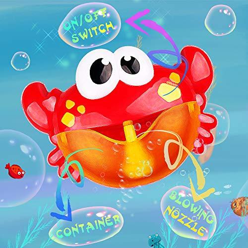 Addmos Badewannenspielzeug, Baby Spielzeug, Seifenblasen Badespielzeug, Spielzeug mit Musik für Kinder ab 1 Jahr 2jahre und älter