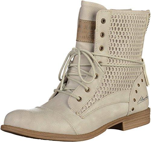 Mustang Damen 1157-542-203 Combat Boots Grau (203 Ice)