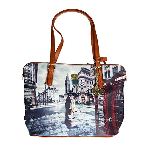 Y NOT? - Femme sac a bandouliere shopper shopping medium g-377 Londra Romantic